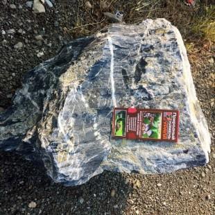 """Камень для ландшафтного дизайна """"Мрамор черный"""""""