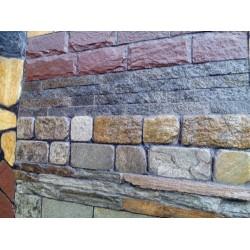 Отделка фасада природным камнем с Урала