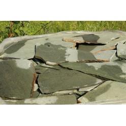 Плитняк Кварцит Башкирский (зеленый) 2-3 см.